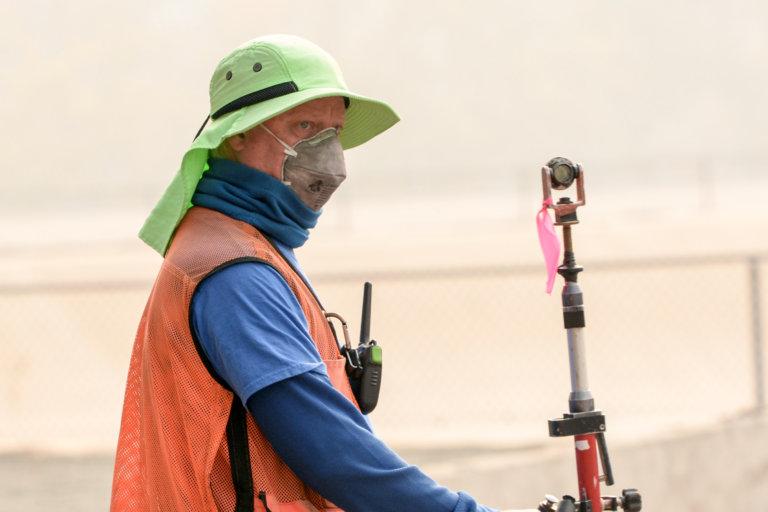 Surveying at the Napa County Wastewater facility