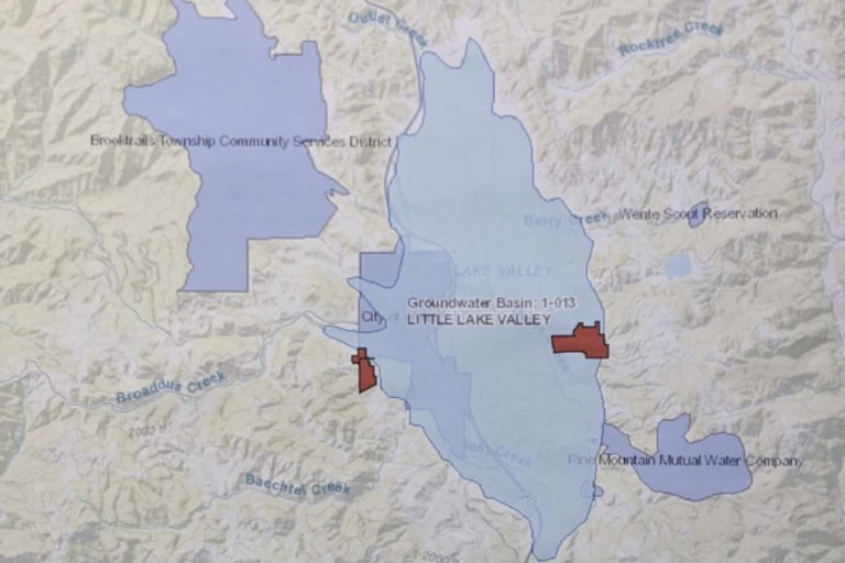 Map image of Little Lake Valley (LLV) Groundwater Plan locations