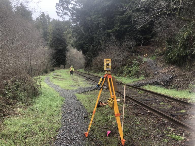 Mendocino Railway Tracks Survey Photo 2021