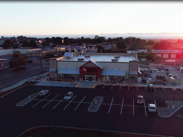 Tractor Supply Project Completion Drone Photo 2018
